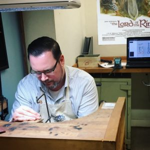 Jack Meyer working at the jewellery bench