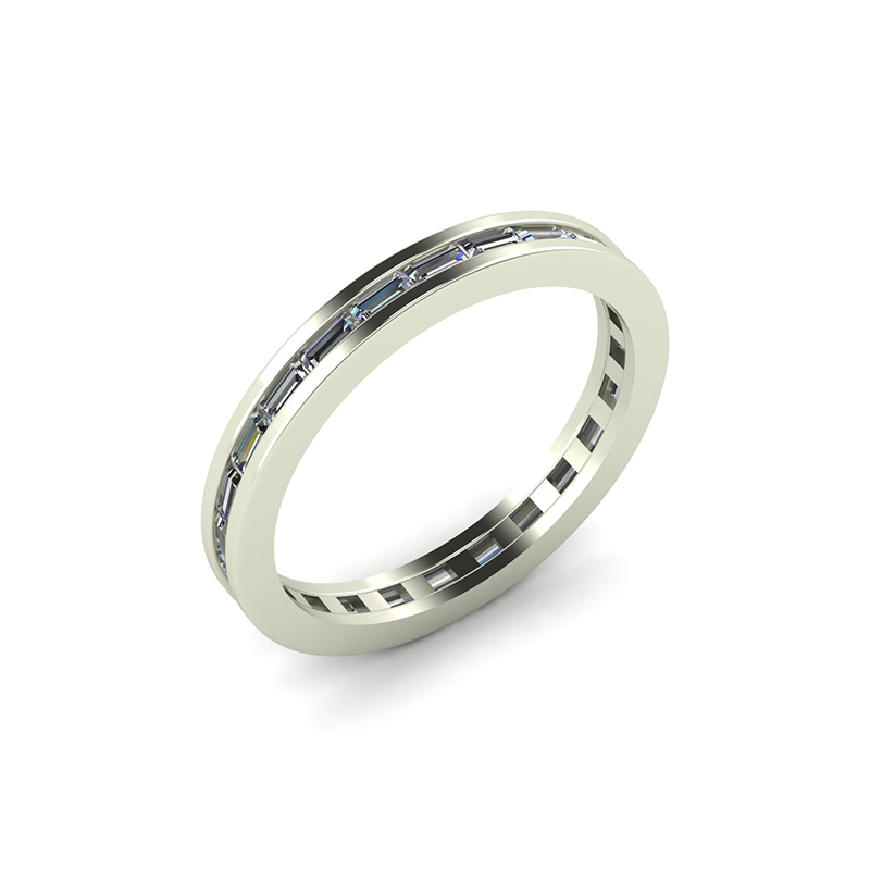 Ultralight Chanel Set Eternity Ring