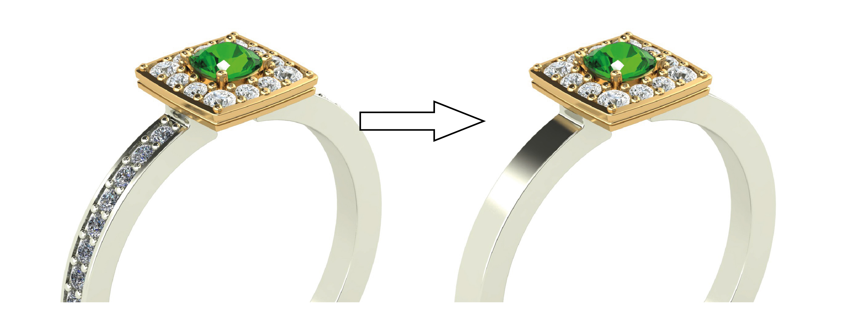 adding or removing shoulder pave - custom wedding ring design