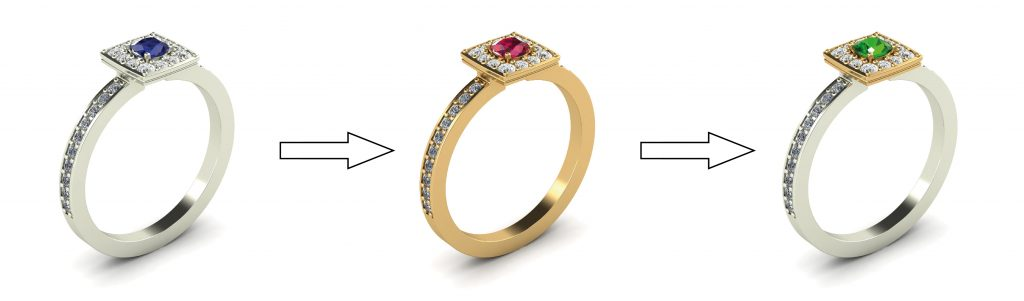 customising your wedding ring design's metal colour