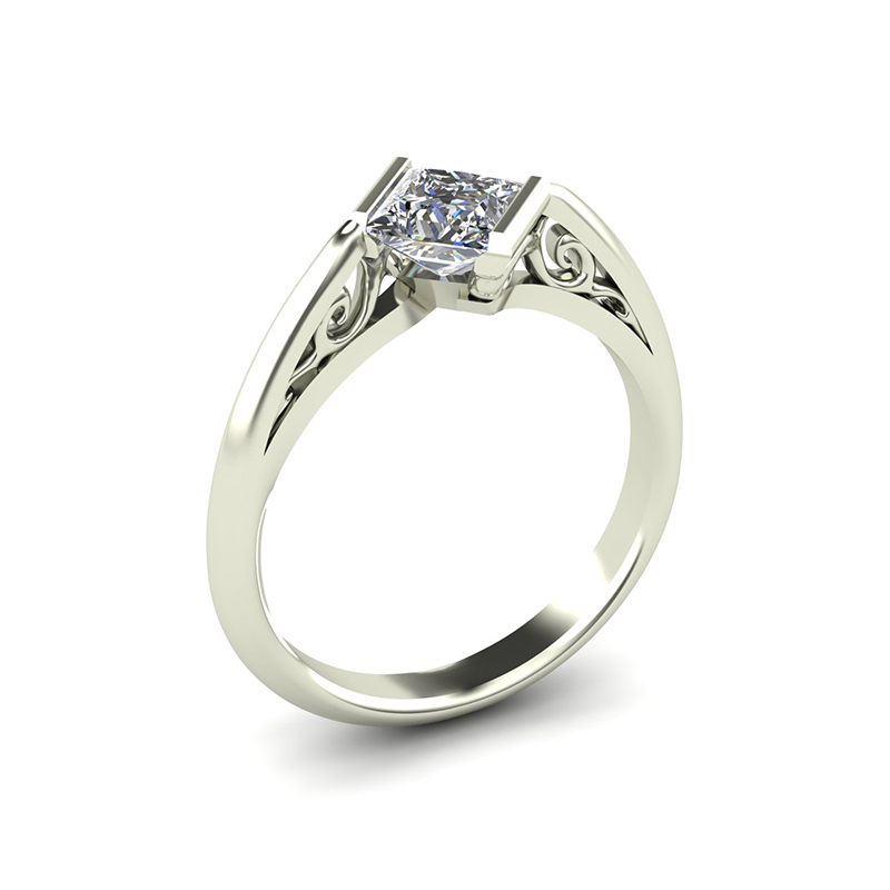 Edge Crossover Engagement Ring