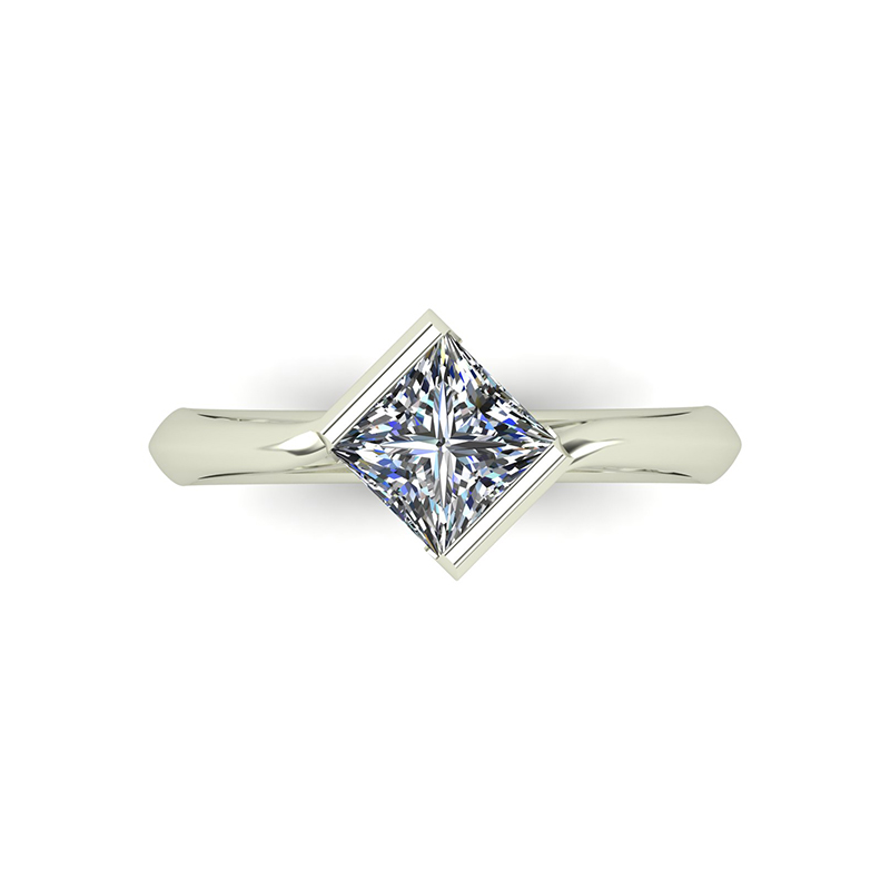 Edge Engagement Ring top view