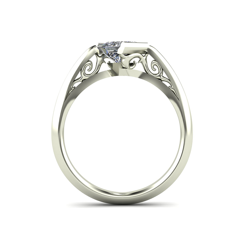 Edge Engagement Ring