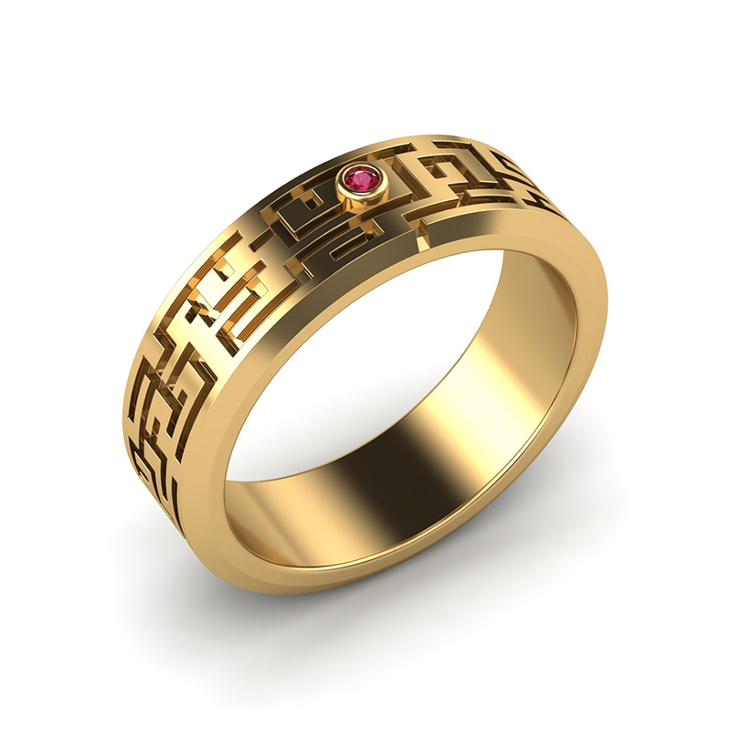 Labyrinth wedding band