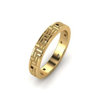 Monument ladies textured wedding ring