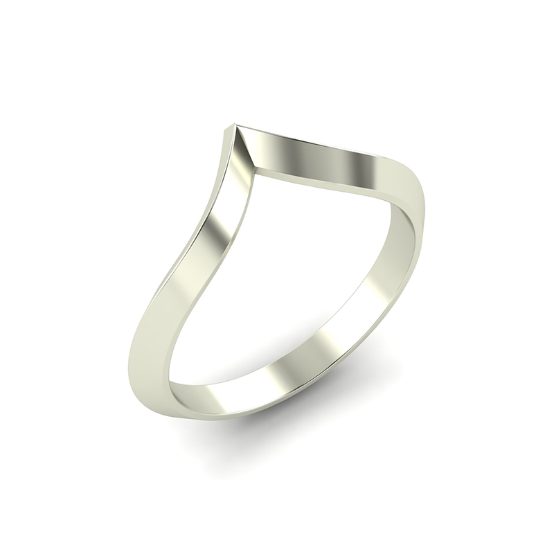 Pagoda wishbone wedding band