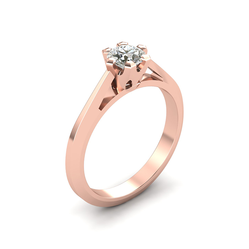 Regina geometric solitaire engagement ring