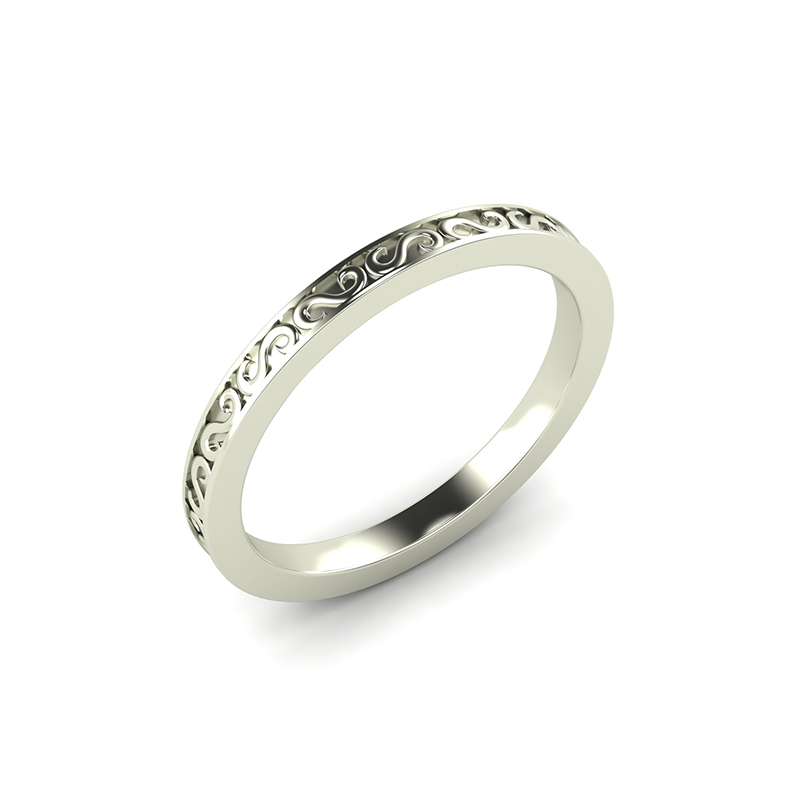 Sheridan ladies filigree wedding ring