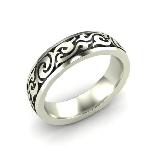 Sheridan mens filigree wedding band