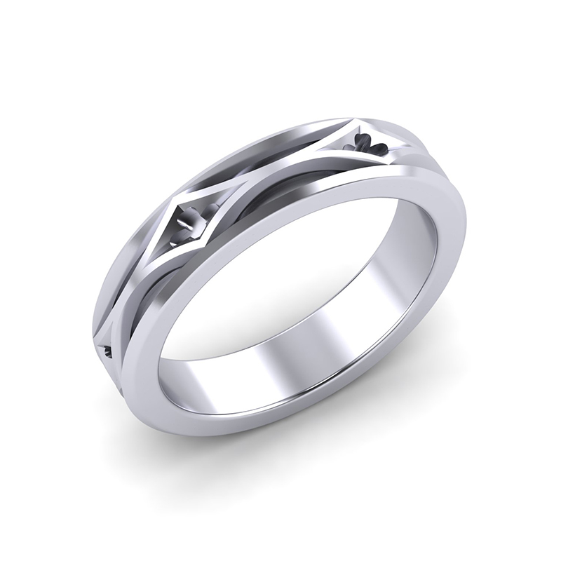 Cathedral ladies architectural wedding ring platinum