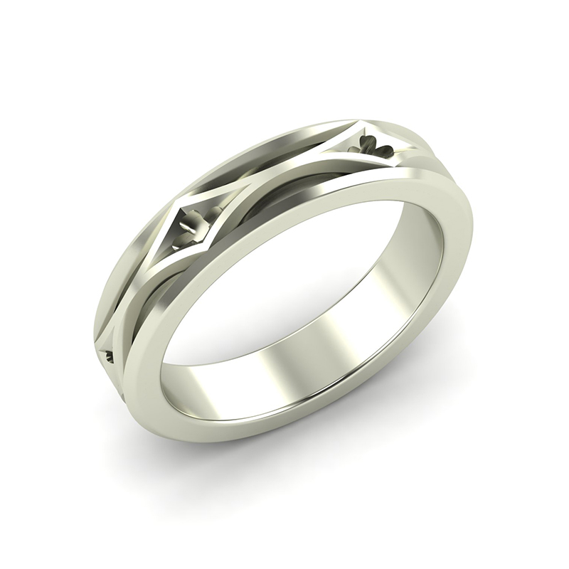 Cathedral ladies architectural wedding ring