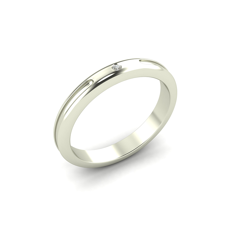 crux ladies gypsy set wedding ring - 18ct white gold
