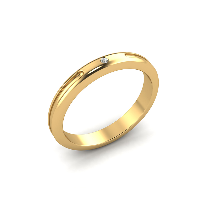 crux ladies gypsy set wedding ring - 18ct yellow gold