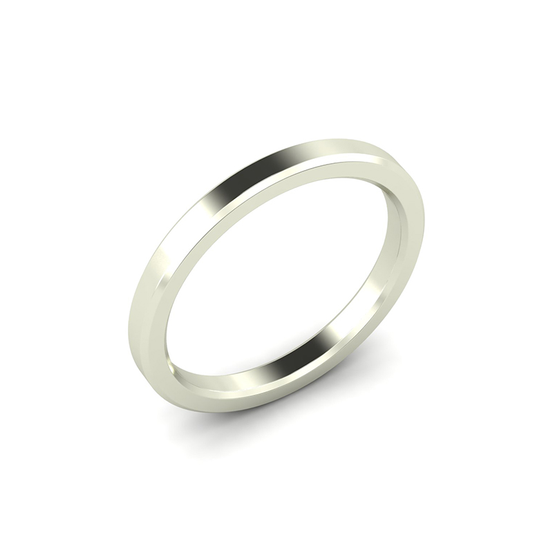 Octagon ladies simple wedding band