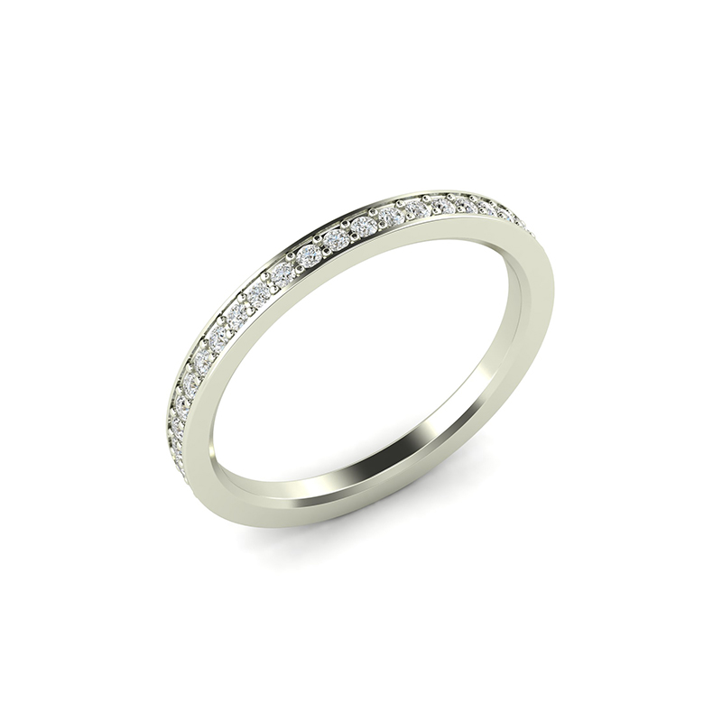 thin diamond pave eternity band
