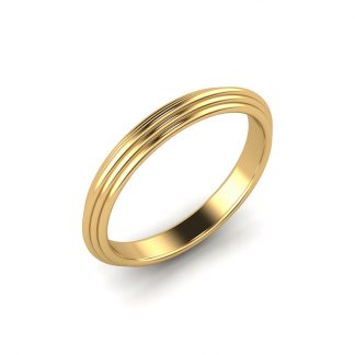 wired ladies grooved wedding ring