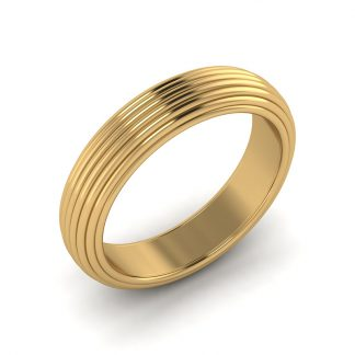 wired mens grooved wedding band