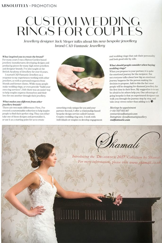 jewellery articles and press - Absolutely London Promotion - Nov 17
